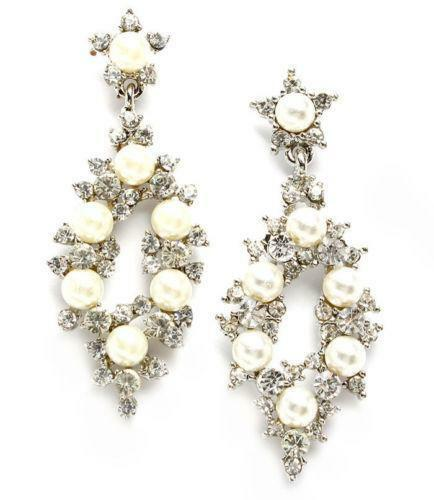 vintage pearl drop earrings ebay