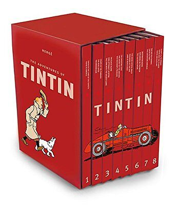 The Complete Adventures of Tintin Collection 8 Books Box Gift Set by Her on Rummage