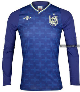 BNWT-Umbro-England-Home-Goalkeeper-Shirt-2012-13-SIZE-44-MENS-3-4-sleeve