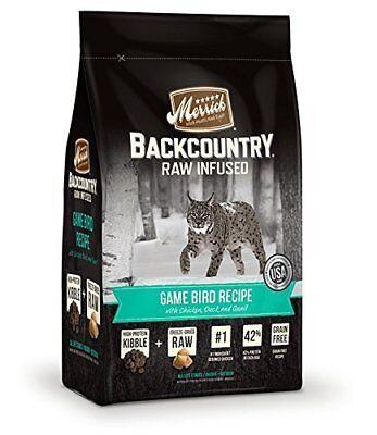 Merrick Backcountry Grain Free Raw Infused Game Bird Recipe Dry Cat Food 3 lb.