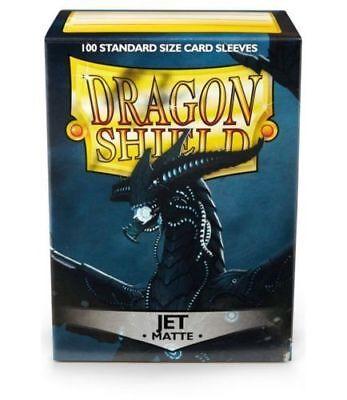 Dragon Shield Standard Size Card matte Sleeves Jet Black Magic Pokemon 100ct -