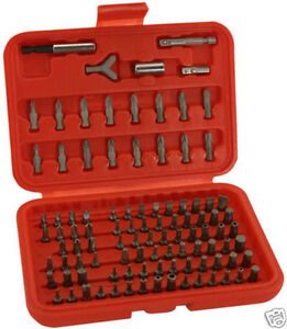 100 PIECE SCREW DRIVER BITS TRAX  GRAB KIT (TAMPER PROOF, POSIDRIVE, TORX, HEX)