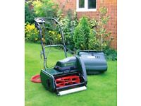 Atco Windsor-14S 14-inch Electric Cylinder Lawnmower with changeable scarifier