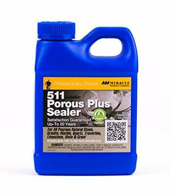 Surface Tile Sealer - Porous Tile & Stone Surface Sealer w/ Weather & Oil Resistant Formula (16oz)