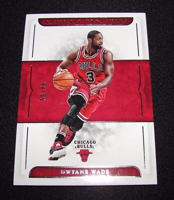 2016-17 National Treasures DWYANE WADE #3 Foil Insert/99 Chicago BULLS Marquette
