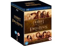 Middle Earth Collection - Blu Ray Lord of the Rings Trilogy + Hobbit Trilogy NEW & Sealed - £20