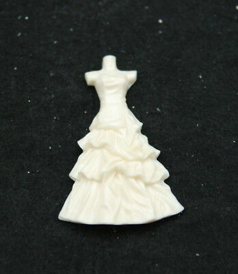 2D Dress #2, Silicone Mold Chocolate Polymer Clay Jewelry Soap Wax Resin