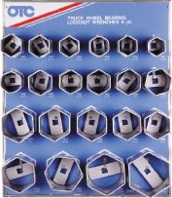 OTC Tools 9850 6-pt Wheel Bearing Locknut Sockets with Tool Board Otc Wheel Bearing Locknut Socket