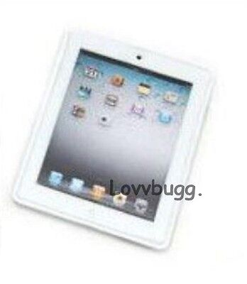 "Lovvbugg Mini Tablet White Laptop Computer for 18"" American Girl Doll Accessory"