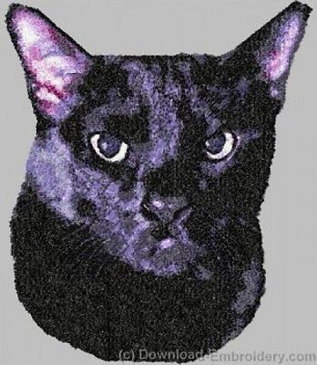 Large Embroidered Zippered Tote - Bombay Black Cat DLE2649