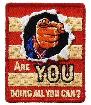 Are You Doing All You Can Patch  Political Patches