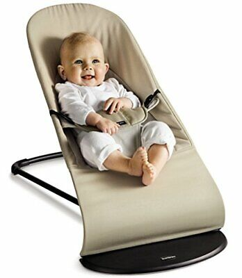 BabyBjorn Balance Soft Jersey Baby Bouncer - Dark Grey/Light Grey