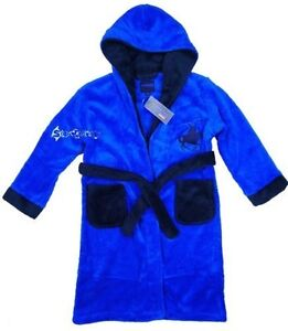 Boys Luxury Fleece Hooded Dressing Gown Robe Polo Player Embroidery Ages 2-13