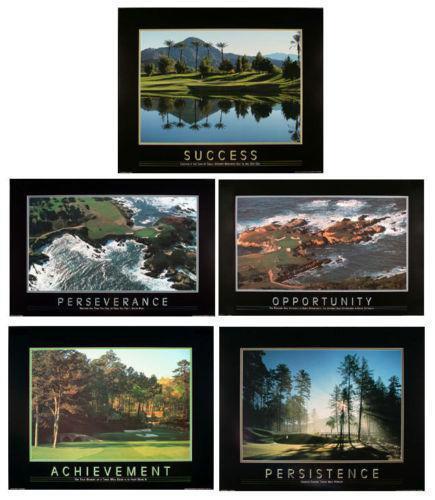 Golf Motivational Poster Ebay