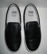 Vans Black Leather Slip On