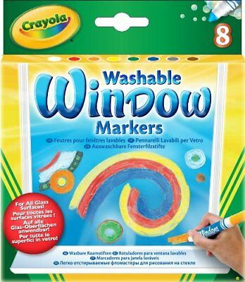 Crayola Crayola Window Fx Art Marker - Assorted Ink - 8 / Pack (588165)](Crayola Window Markers)