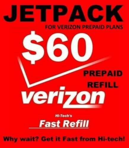 $60 VERIZON PREPAID JETPACK REFILL 🔥 FAST 🔥 DIRECT TO MIFI 🔥 PLAN DATA REFILL