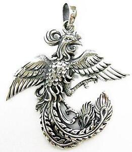 Phoenix pendant ebay sterling silver phoenix pendant aloadofball Image collections
