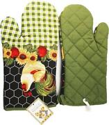 Green Oven Gloves