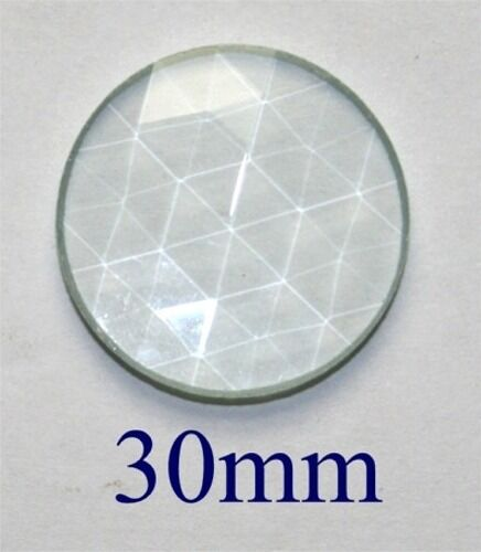 """30mm 1-3/16"""" German Round Faceted Jewel - CLEAR"""