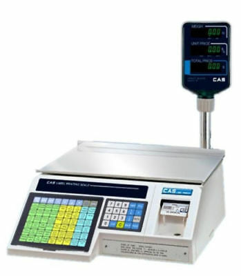 Cas Lp1000n Label Printing Scale With Pole 30x0.01lb Ntep Legal For Trade New