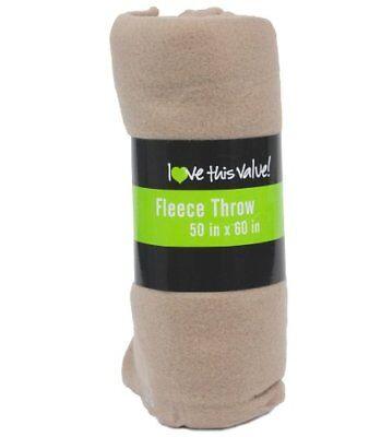 50 x 60 Inch Soft Cozy Fleece Blanket / Fleece Throw - Tan ()