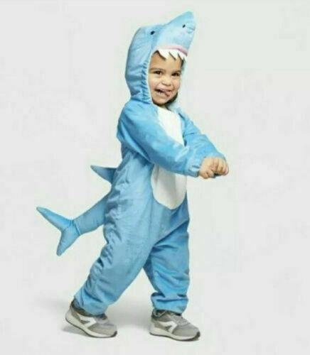 Shark Costume Baby 0-6 Months Blue Plush Hyde and Eek Boutique Halloween Kids
