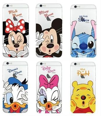Disney Mickey Donald Minnie Ultra Thin Transparent iPhone Samsung Galaxy Case