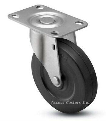 2spcrs 2 Swivel Caster Soft Rubber Wheel 1-316 X 2 Top Plate