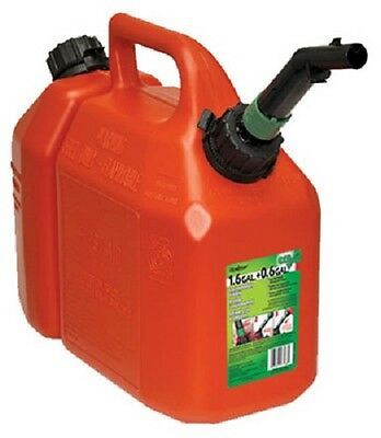 Scepter 05088 1-12 Gallon Red Gas Bar Oil Plastic Chain Saw Gasoline Can