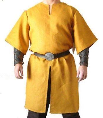 YUP Medieval Peasant Tunic Yellow Renaissance Clothing Viking Garb Shirt Theater