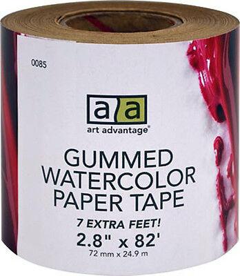"Art Advantage Gummed Watercolor Paper Tape  8.2"" x 82'  1 Roll New"