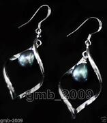 Black Pearl Dangle Earrings