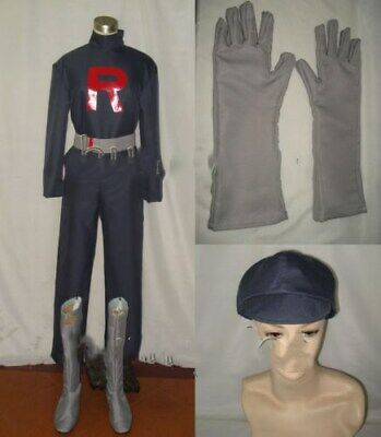 Pokémon Pokemon Team Rocket Grunt Cosplay Costume + Boots](Team Rocket Cosplay)