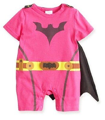 CUTE PINK BAT BABY TODDLER GIRL FANCY DRESS OUTFIT ROMPER COSTUME SUIT GIFT - Cute Toddler Girl Kostüm