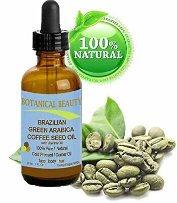 100% Pure & Natural Brazilian Green Arabica Coffee Seed Oil 1oz