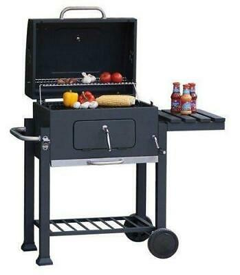 Charcoal BBQ Grill with lid outdoor cooking garden Barbecue square