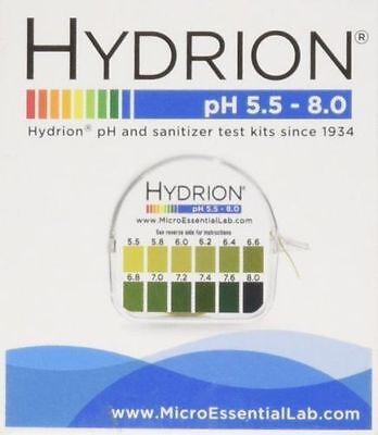 Sale Hydrion 067 Body Acid Ph Test Tape Strips Paper Roll Urine Saliva 5.5-8.0