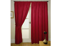 Milano Lined Pencil Pleat/Tape Top Readymade Curtains Including Free Tiebacks