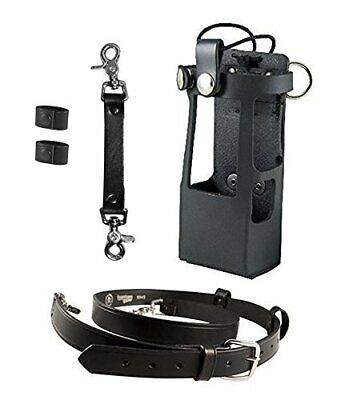 Boston Leather Bundle Three Items- Anti-Sway Strap Radio Strap Firefighter