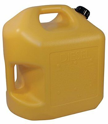 Midwest Can 5 Gallon Capacity Diesel Oil Mixes Durable Hdpe Yellow Fuel Portable
