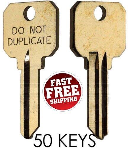Schlage SC4 DND DO NOT DUPLICATE 6-PIN Key Blanks - 50 Keys