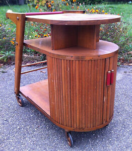 bar sur roulettes 39 paquebot streamline 39 vintage an 50 ebay. Black Bedroom Furniture Sets. Home Design Ideas