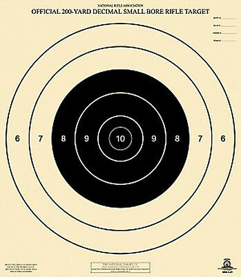 Official NRA A-21 [A21] 200-Yard Decimal Small Bore Rifle Target [21