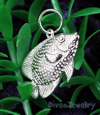 Majestic Angel Fish - Solid STERLING SILVER ☣ 3D Majestic Angelfish Sealife Marine Pendant Necklace