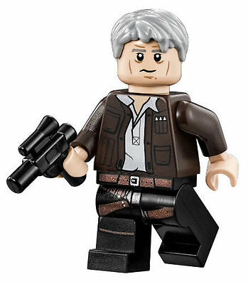 NEW LEGO STAR WARS MINFIGURE HAN SOLO GREY GRAY HAIR T THE FORCE AWAKENS