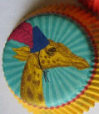 50 Circus Carnival Zoo Jungle Giraffe wParty Hat Cupcake Cups Liners