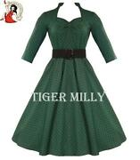 Hell Bunny Green Dress