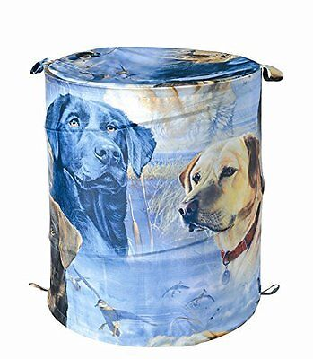 LABRADOR RETRIEVER Black Yellow Lab LAUNDRY BASKET HAMPER Dog Bathroom Decor