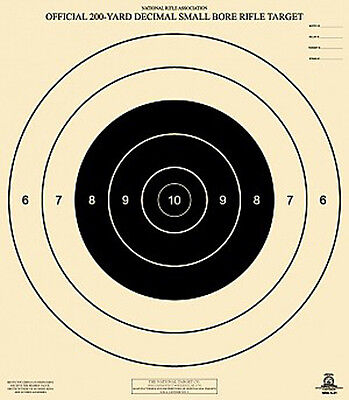 Official NRA A-21 [A2] 200-Yard Decimal Small Bore Rifle, 2 Targets & 20 Centers 200 Yard Rifle Targets